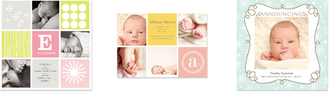 Example Birth card designs
