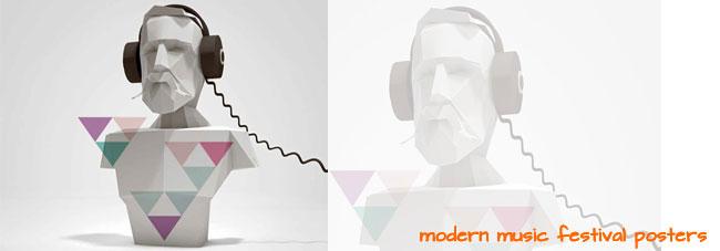 Modern Music Festival Posters