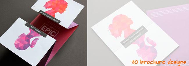 30 Gorgeous Brochure Design Ideas for print