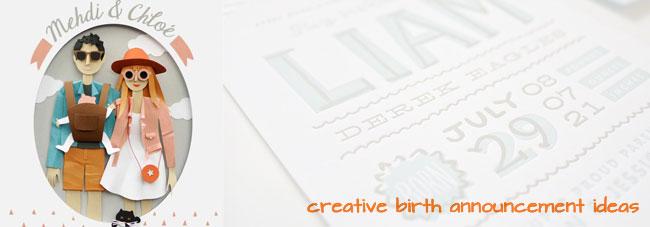 12 Creative Birth Announcement Ideas