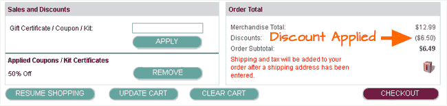 Apply your coupon at Ink Garden checkout