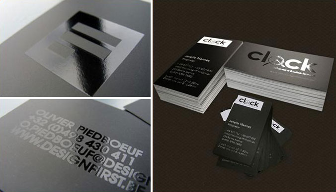Overnight Prints spotgloss Printing on Business cards