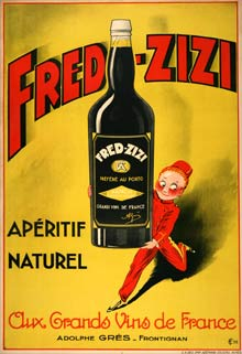 Fred zizi vintage poster