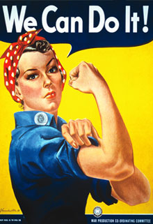 We can do it power women poster