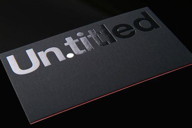 Spot UV business card Un.titled