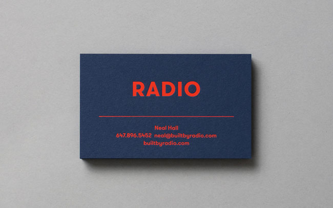 Spot UV business cards Radio by Tung