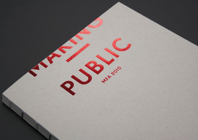 Spot UV catalogue Making Public