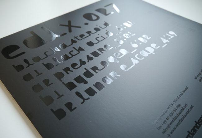 Spot UV record sleeve Black Acid