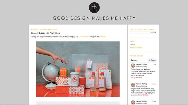 Graphic design blog Good Design Makes Me Happy