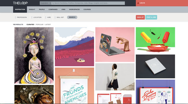 Graphic design blog The Loop