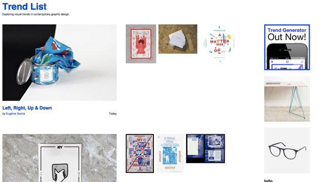 Graphic design blog Trend List
