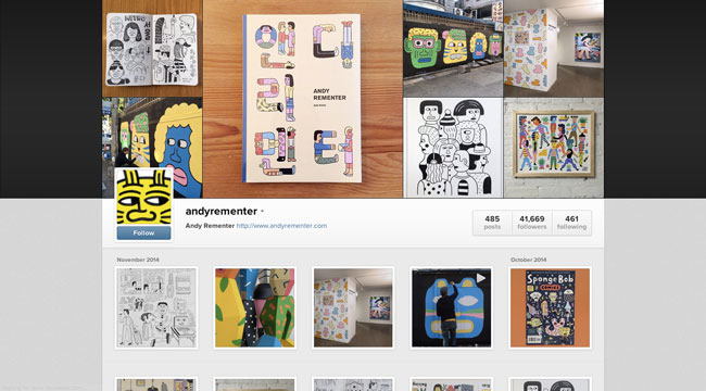 Instagram graphic design Andy Rementer