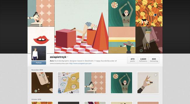 Instagram graphic design Asia Pietrzyk
