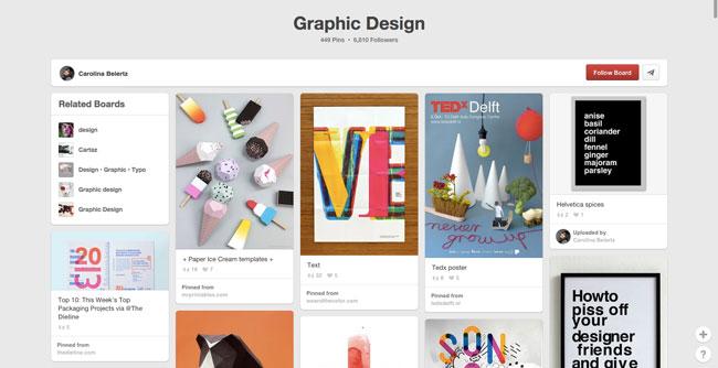 Pinterest board design Carolina Beiertz