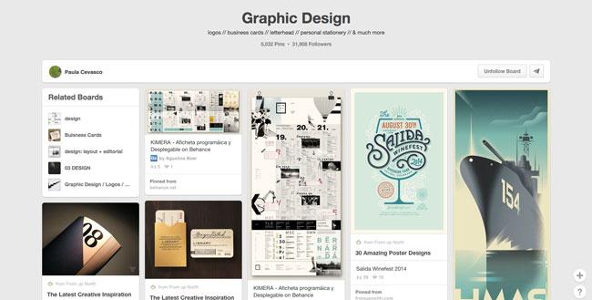 Pinterest board design Paula Cevasco