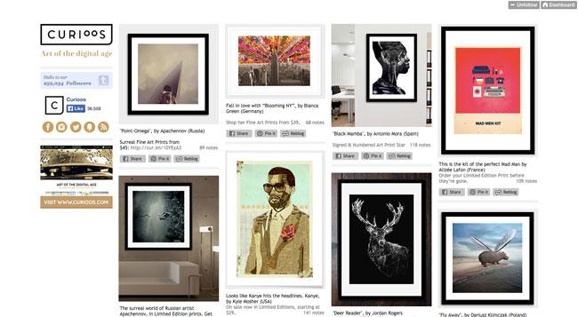 Tumblr graphic design Curioos