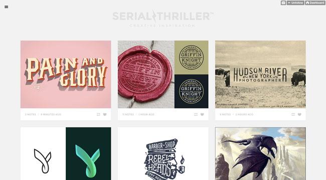 Tumblr graphic design Serial Thriller