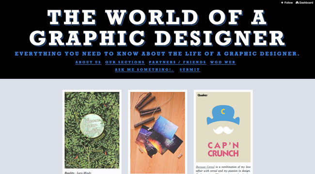 Tumblr graphic design The World of a Graphic Designer