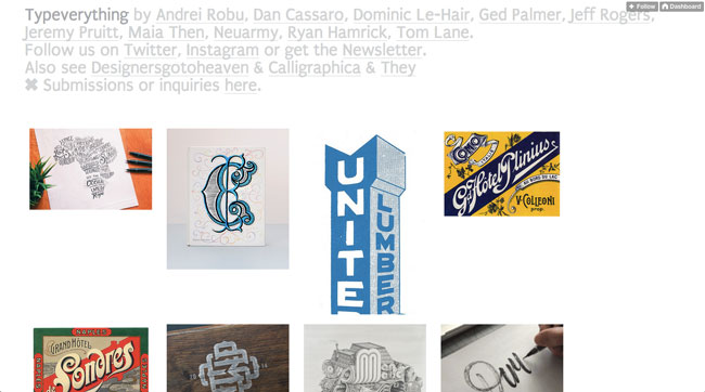 Tumblr graphic design Typeverything