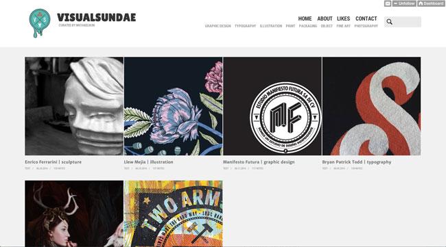 Tumblr graphic design Visual Sundae