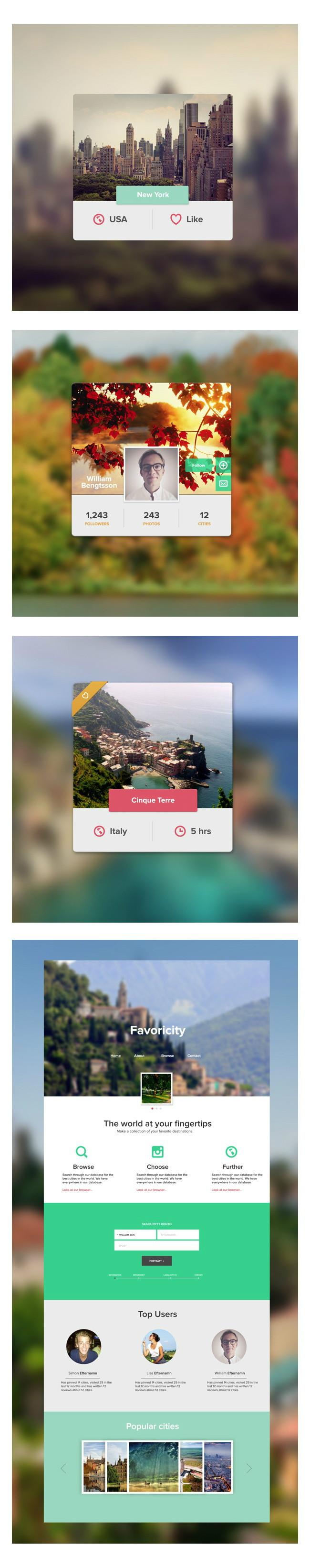 Favoricity website concept