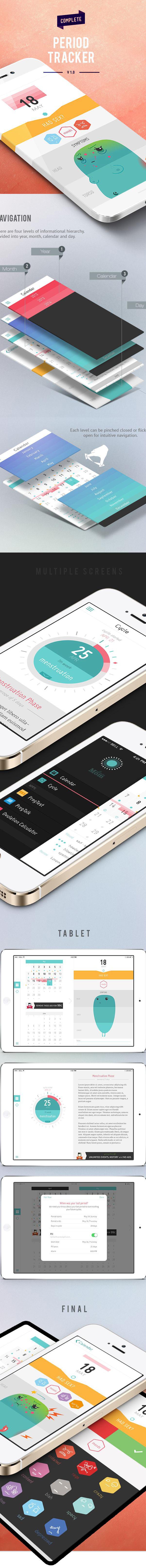 Period Tracker app on iOS