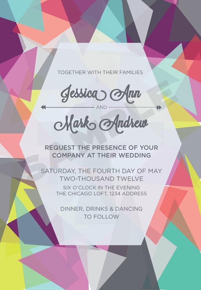 wedding invitation by 33WestDesign Etsy