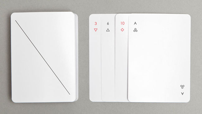 Good design Iota Playing Cards minimalist