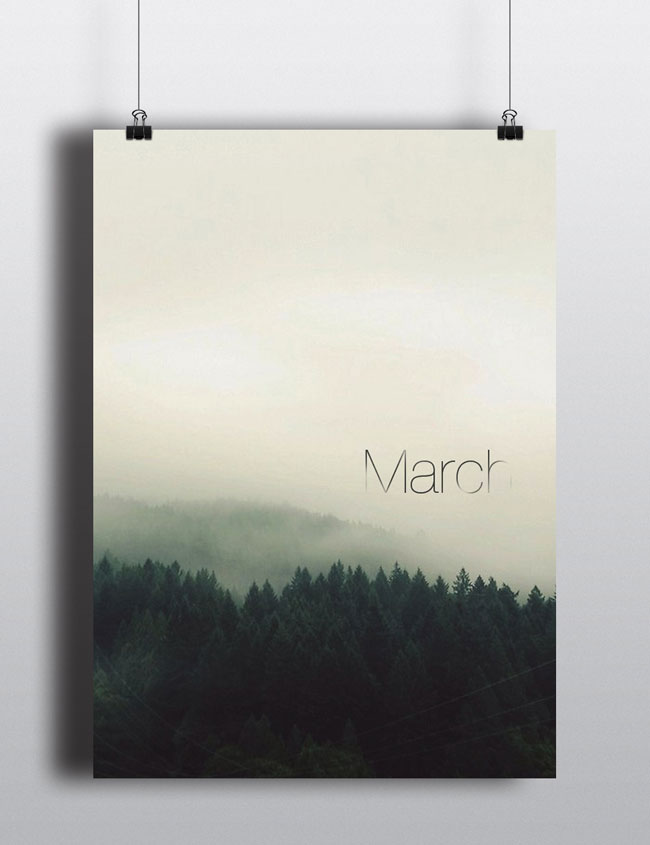 Good design Perpetual Calendar minimalist