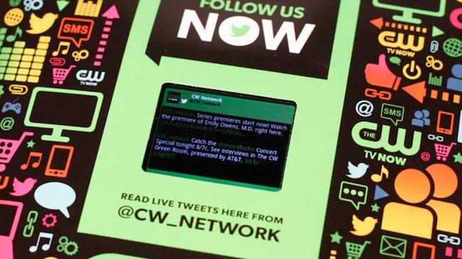 closeup of the screen