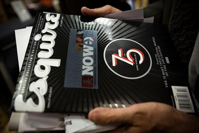Esquire interactive cover