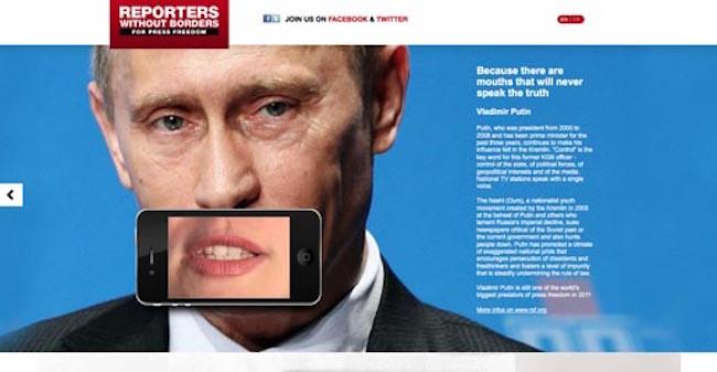 Vladimir Poetin ad