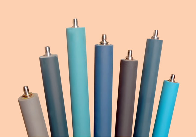 Offset lithography printing rubber rollers