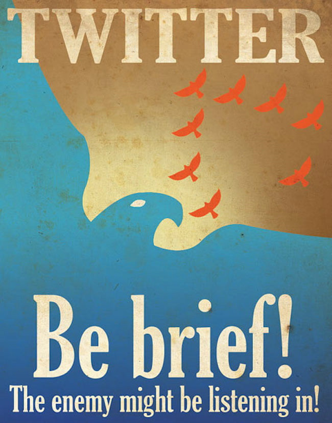 Twitter Poster The Enemy is listening
